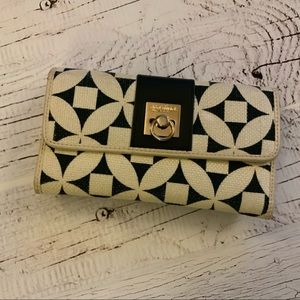 Spartina Natural linen Genuine leather wallet